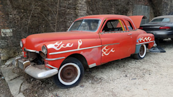 This 1950 Chrysler coupe in Illinois is a Junkyard Gem