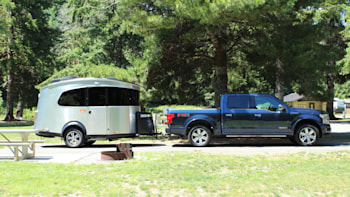 Airstream Basecamp and 2018 Ford F-150 Power Stroke diesel