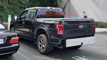 2020 Rivian A1t Pickup Truck Ev Spied With F 150 Body Autoblog