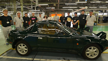 Mazda has finished work on the first factory-restored Miata
