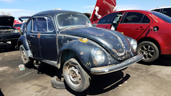 1971 volkswagen super beetle in colorado wrecking yard