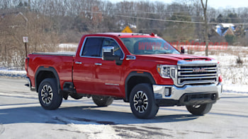 2020 Gmc Sierra Hd Spied In Double Cab Gas Powered Form Autoblog