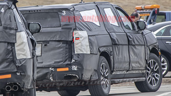 Next-gen GM full-size SUVs spied out testing looking closer