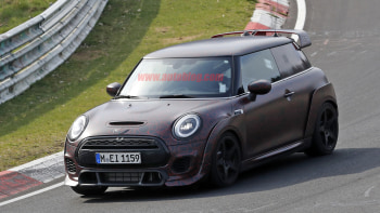 2021 Mini John Cooper Works Gp Spied With Race Track Camo Autoblog