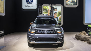 2019 VW Atlas Basecamp concept is lifted offroad camping SUV | Autoblog