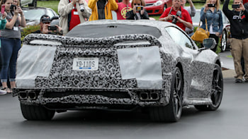 C8 mid-engine Chevy Corvette shows off at National Corvette