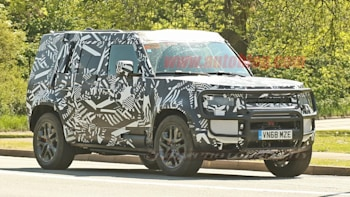 2020 Land Rover Defender Hybrid Spied With A Winch Autoblog
