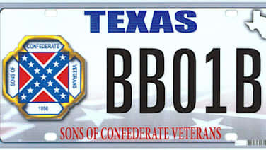 Texas Confederate license plate