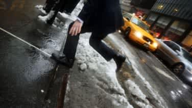 New York City pedestrian crossing