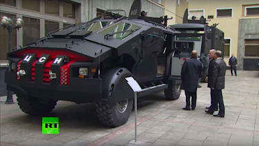 Putin inspects monstrous armored ZiL Punisher military truck