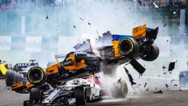 Fernando Alonso's car didn't survive Belgian Grand Prix crash | Autoblog
