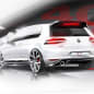 white vw gti clubsport concept rear