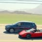 infiniti qx60 vacation ad with lamborghini gallardo