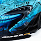 McLaren P1 GTR Workshop blue camo circuit livery