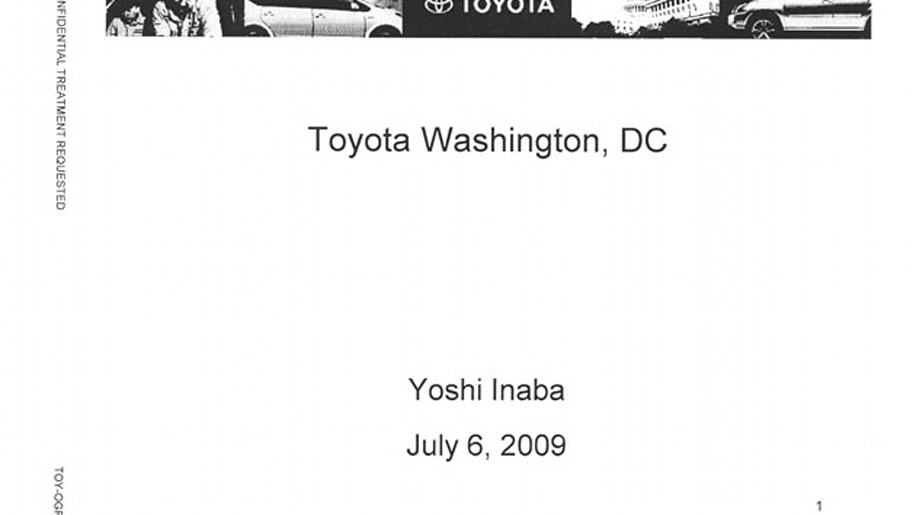 Toyota Recall Document