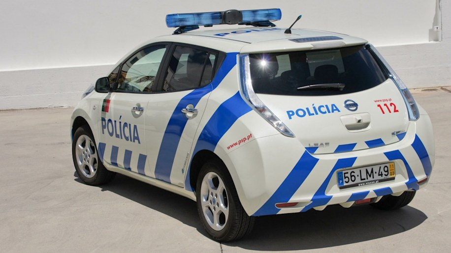 Nissan Leaf Portugal Police Car