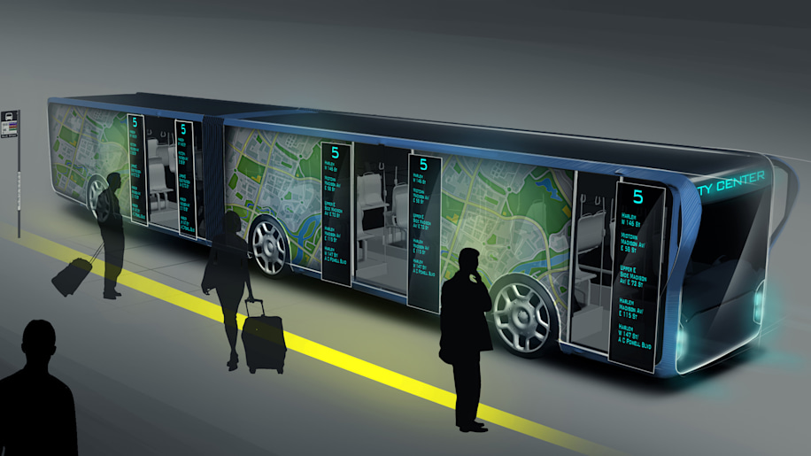 Willie Bus Concept Turns Walls Into Transparent Lcd