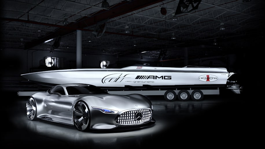 Mercedes-AMG and Cigarette team up for Vision Gran Turismo speedboat