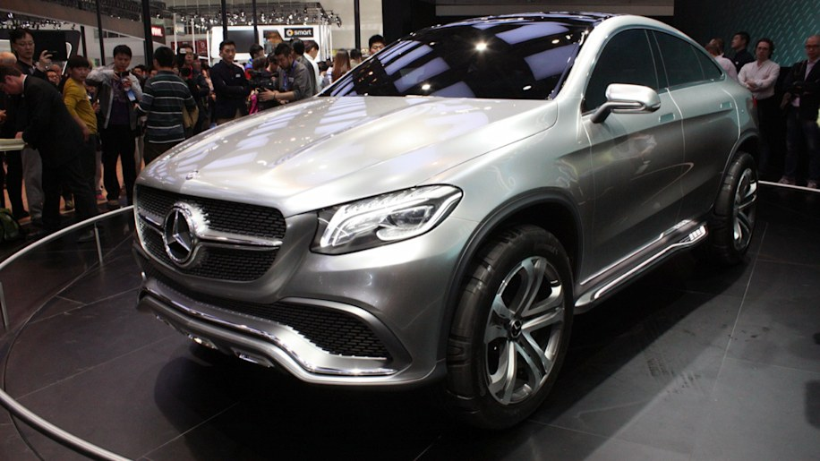 Mercedes benz concept coupe suv blurs lines in beijing for Mercedes benz concept coupe suv