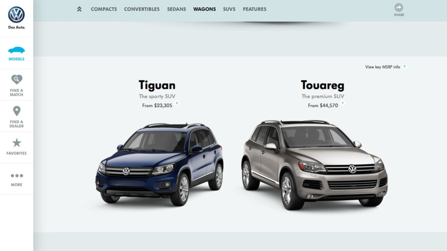 VW introduces radically different new consumer site  draws mixed reviews