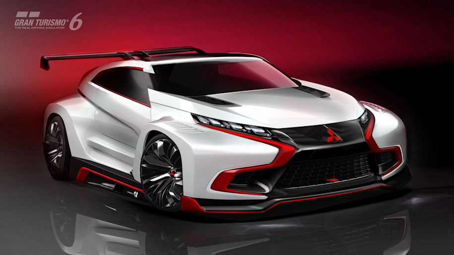 Mitsubishi Concept XR-PHEV Evolution Vision Gran Turismo is long on name, longer on hotness [w/video]