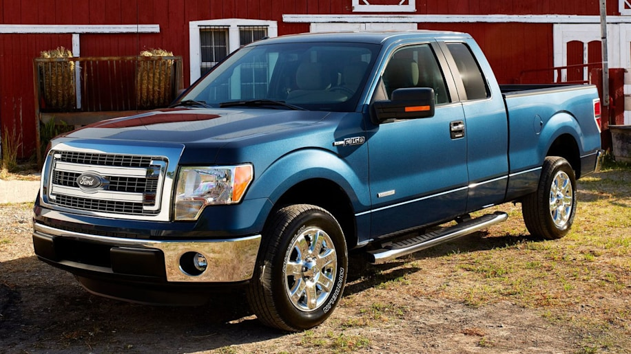 blue ford f150 pickup