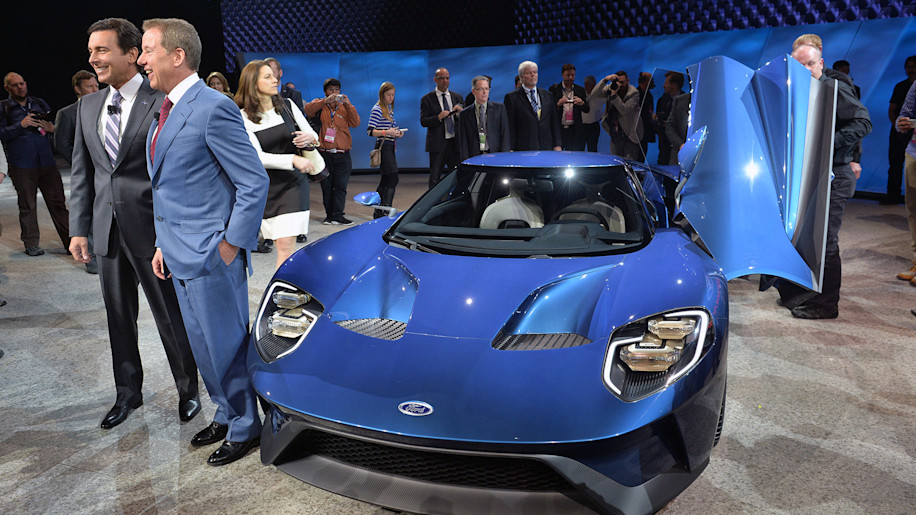 How did Ford keep the GT a secret before Detroit?