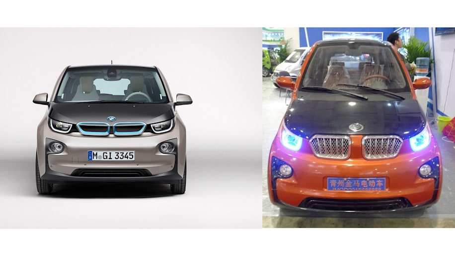 BMW i3 and Chinese copycat from Jimna front