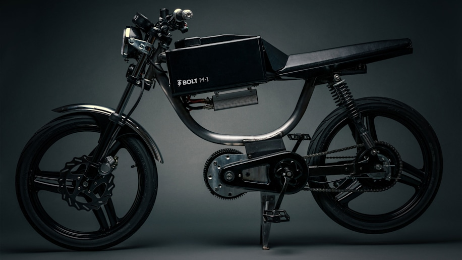 Bolt Motorbikes M-1 electric moped dark in studio
