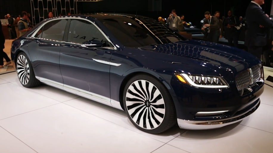 lincoln continental concept has arrived on the new york stand autoblog. Black Bedroom Furniture Sets. Home Design Ideas