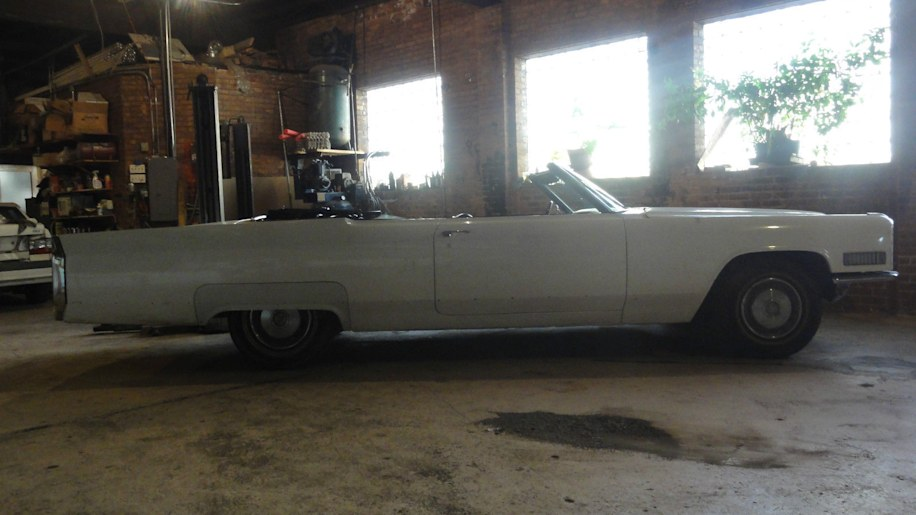 1966 cadillac eldorado convertible side profile
