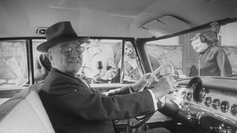 Harry Truman in a Chrysler