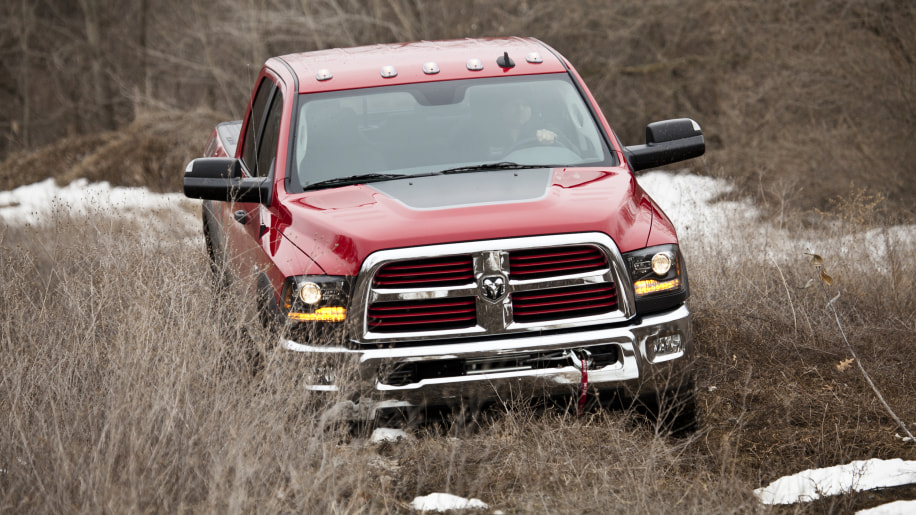 2015 Ram Power Wagon in red off road