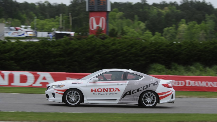 Honda Accord Coupe safety pace indy car hpd side