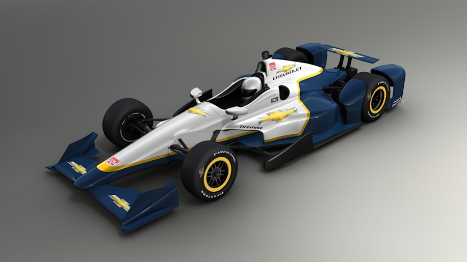 2015 Chevrolet IndyCar speedway aero package front top 3/4