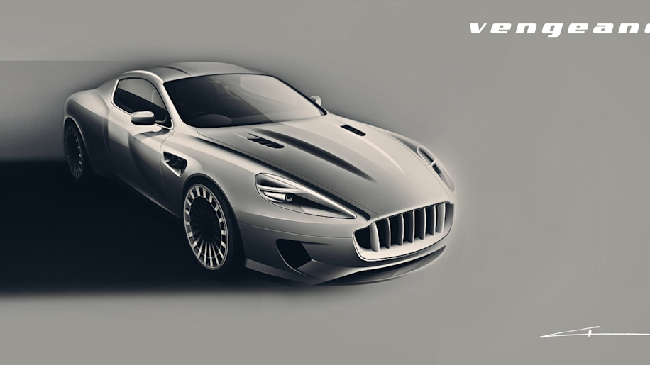 Aston Martin DB9 Vengeance by Kahn Design rendering front 3/4