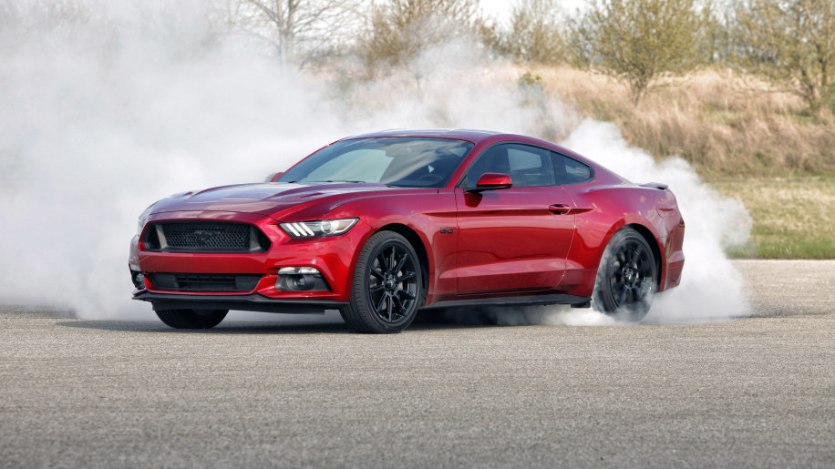 2016 Ford Mustang GT Black Package burnout tire smoke