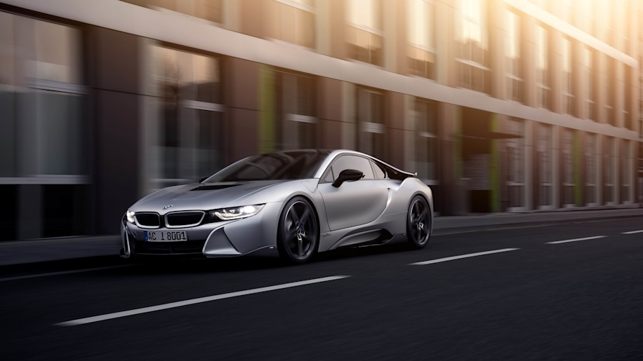 BMW i8 by AC Schnitzer rolling moving front 3/4