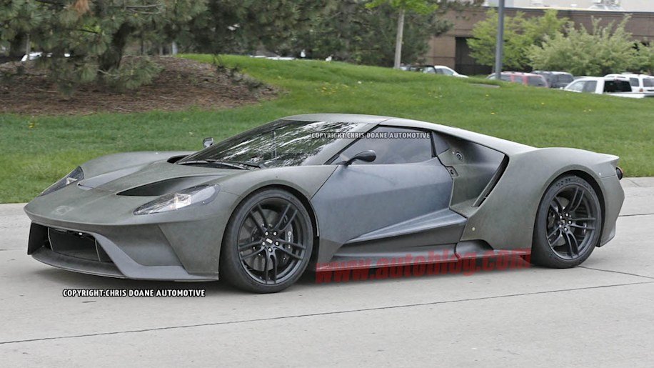 2017 Ford GT prototype front side