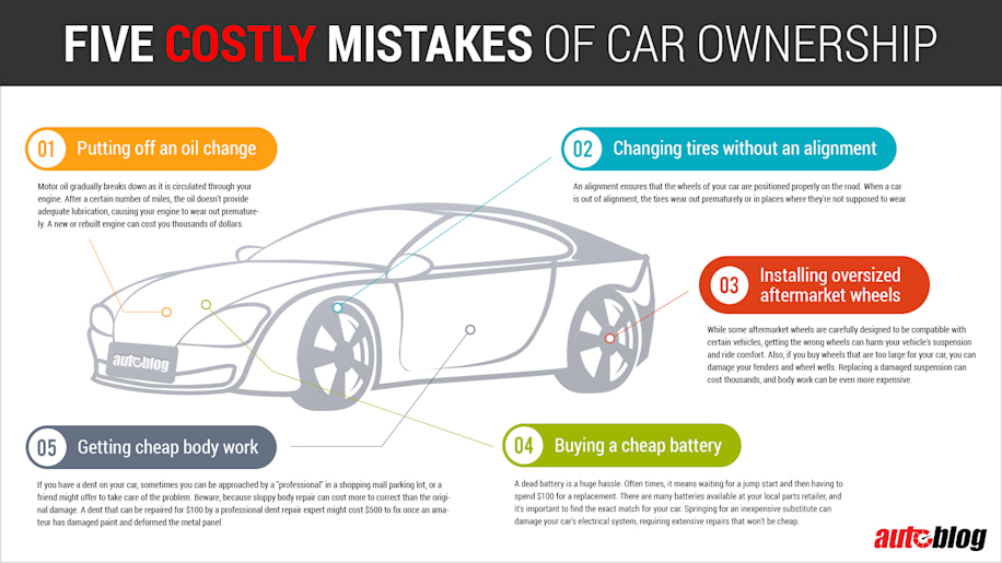 costly car maintenance mistakes infographic