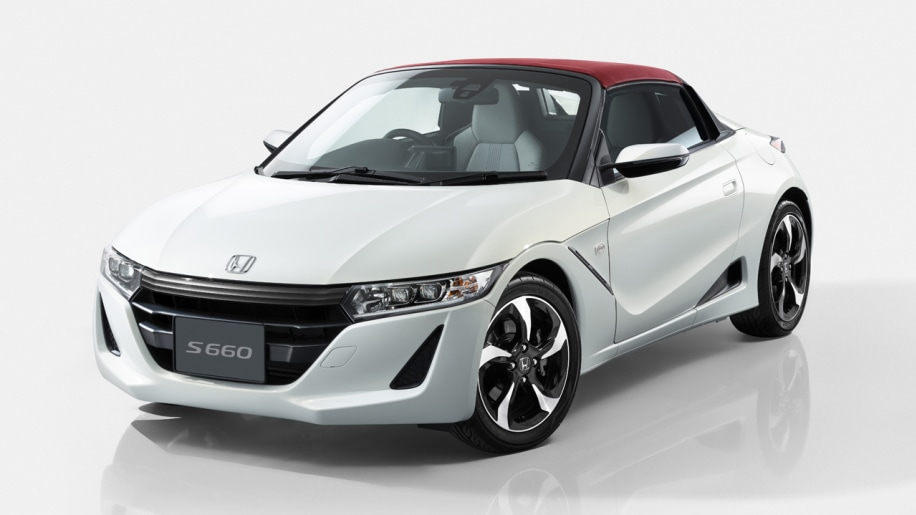 honda s660 white red top front