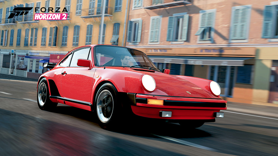 1982 porsche 911 turbo red front driving forza horizon 2