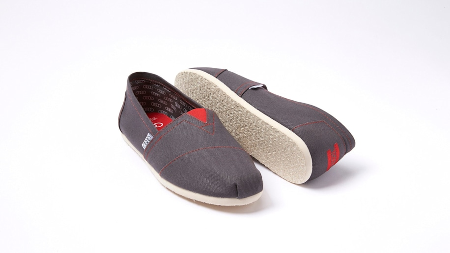 audi gray toms shoes pair