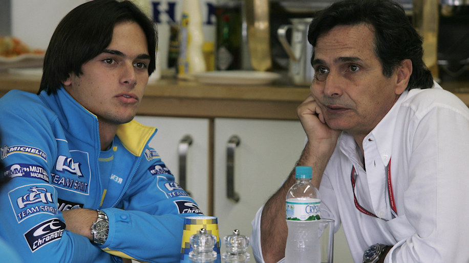 nelson piquet renault father son f1