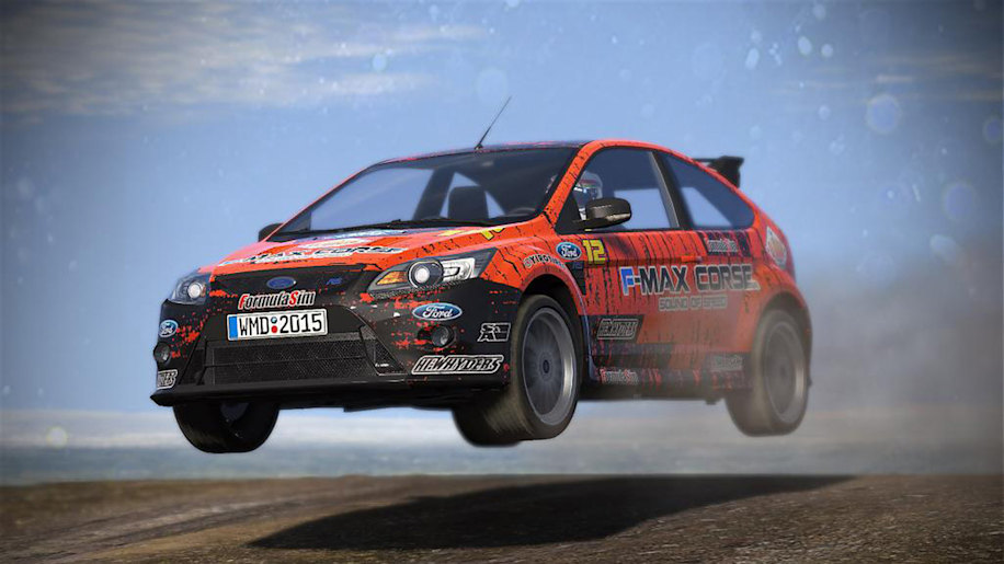 ford focus rs air rally dirt videogame