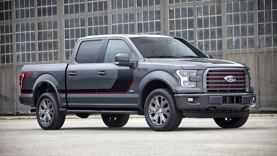 gray 2016 ford-150 lariat appearance package front