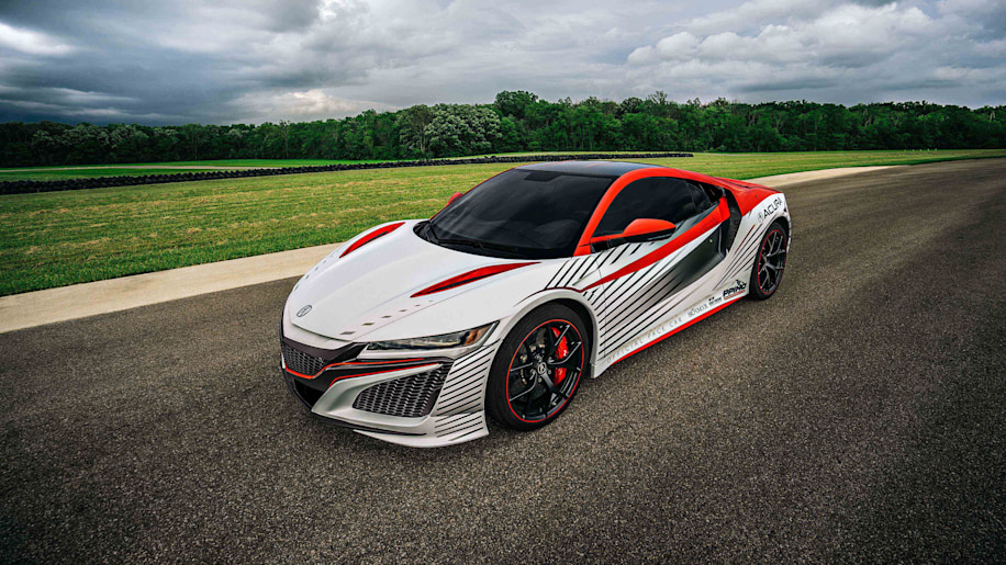 Acura NSX Pikes Peak pace car front 3/4