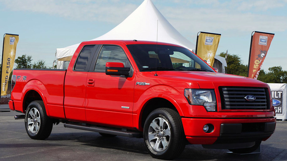 2011 Ford F-150 red front view