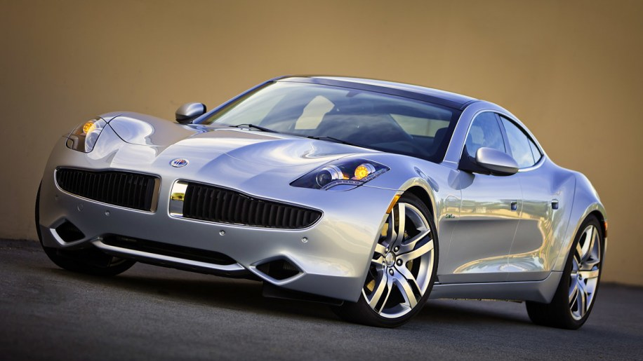 2012 Fisker Karma silver front view