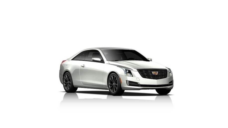 The Cadillac ATS Midnight Edition coupe, front three-quarter view.